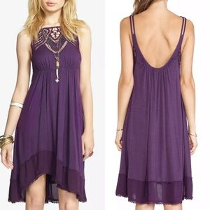 Free People Star Lace Empire Waist Boho Dress